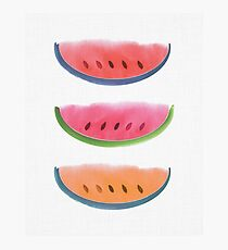 Picnic - Watermelon Watercolor Photographic Print
