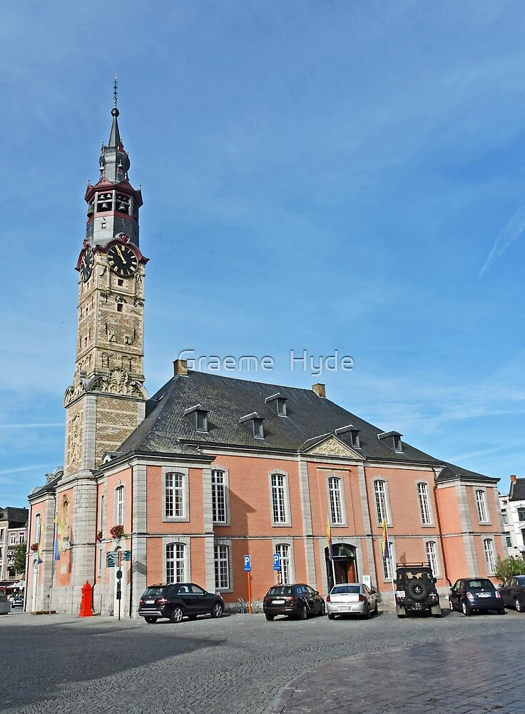 Stadhuis and Belfort Tower in St Truiden by Graeme  Hyde