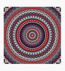 Red Skies Mandala  Photographic Print