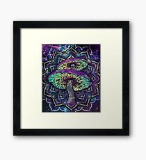 Trippy Shroom Art Framed Print