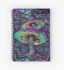 Trippy Shroom Art Spiral Notebook