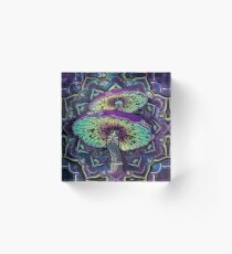 Trippy Shroom Art Acrylic Block