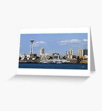 Seattle Skyline Eleven Greeting Card