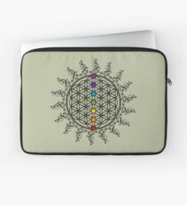 FLOWER OF LIFE, CHAKRAS, SPIRITUALITY, YOGA, ZEN, Laptop Sleeve