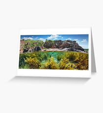 Split Level Reef And Mountain Greeting Card