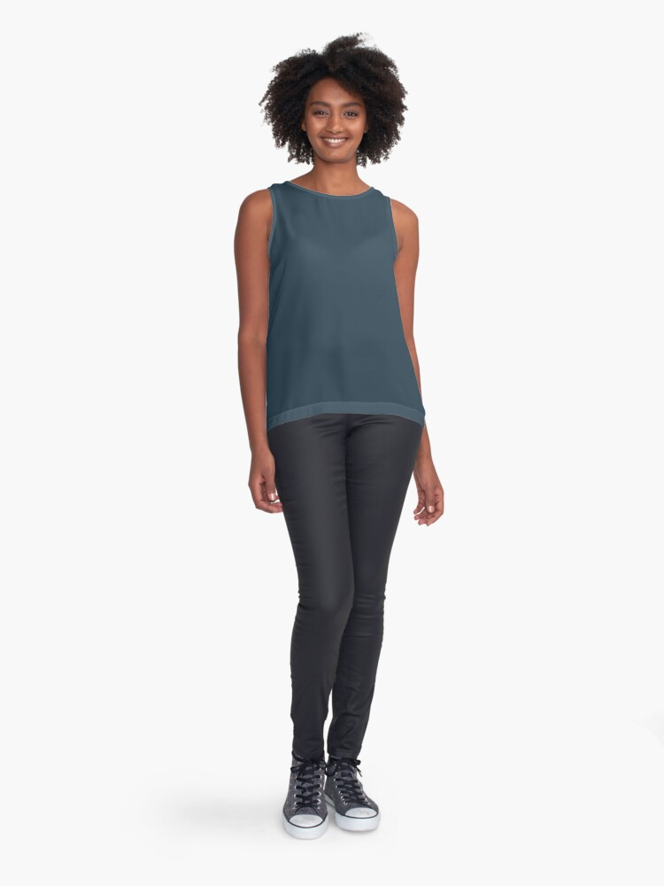 Alternate view of Slate Gray | Solid Color Sleeveless Top