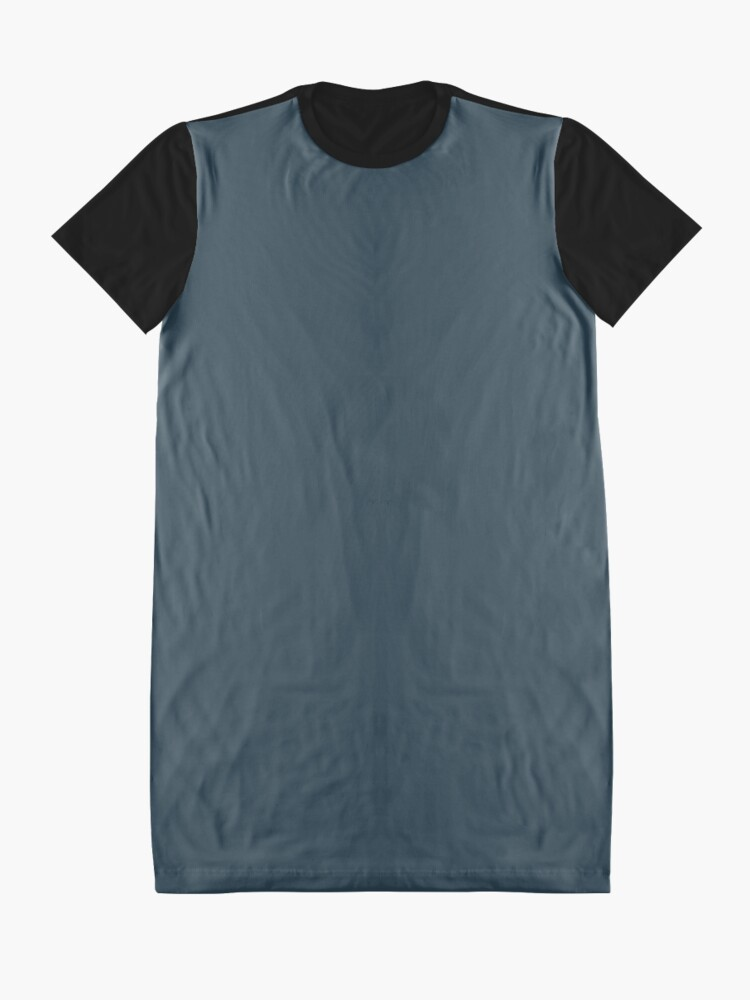 Alternate view of Slate Gray | Solid Color Graphic T-Shirt Dress