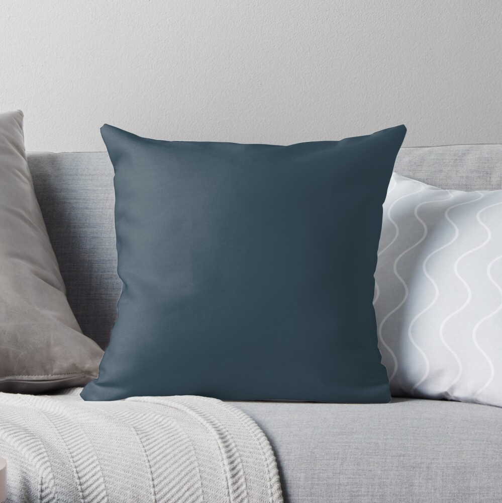 Slate Gray | Solid Color Throw Pillow
