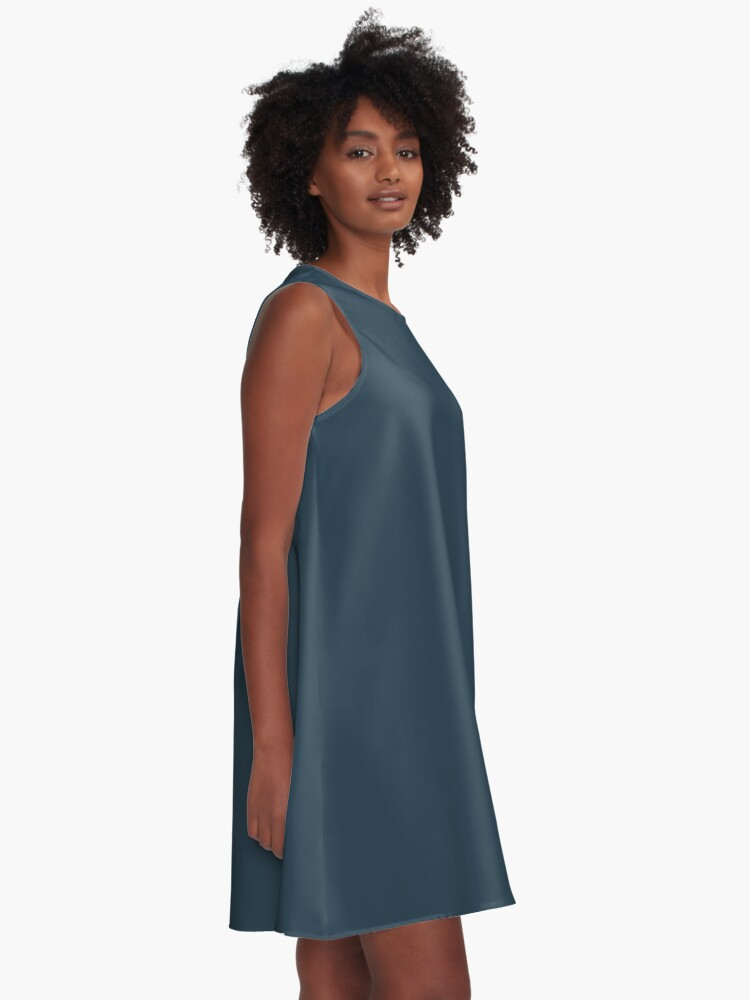 Alternate view of Slate Gray | Solid Color A-Line Dress