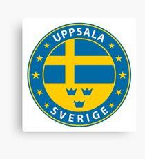 Uppsala, Uppsala Sweden, Uppsala sticker, City of Sweden Canvas Print