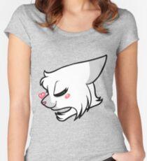 Herzkatzen - Weißsturm rechts Tailliertes Rundhals-Shirt