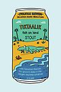 Evolution Brewing Tiktaalik Fish on Land Stout by Richard Morden