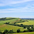 The View From St Catherine's Chapel - Abbotsbury by Susie Peek