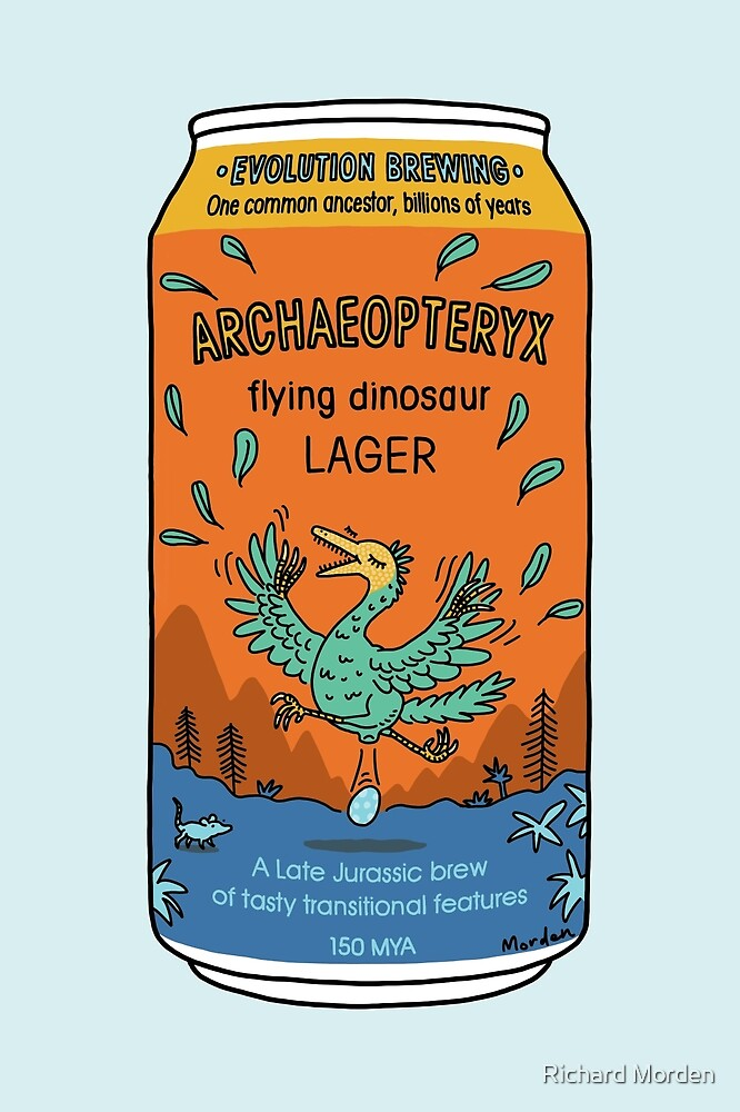 Evolution Brewing Archaeopteryx Flying Dinosaur Lager by Richard Morden