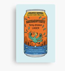 Evolution Brewing Archaeopteryx Flying Dinosaur Lager Canvas Print