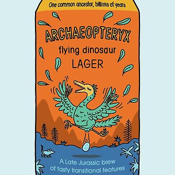 Evolution Brewing Archaeopteryx Flying Dinosaur Lager by morden