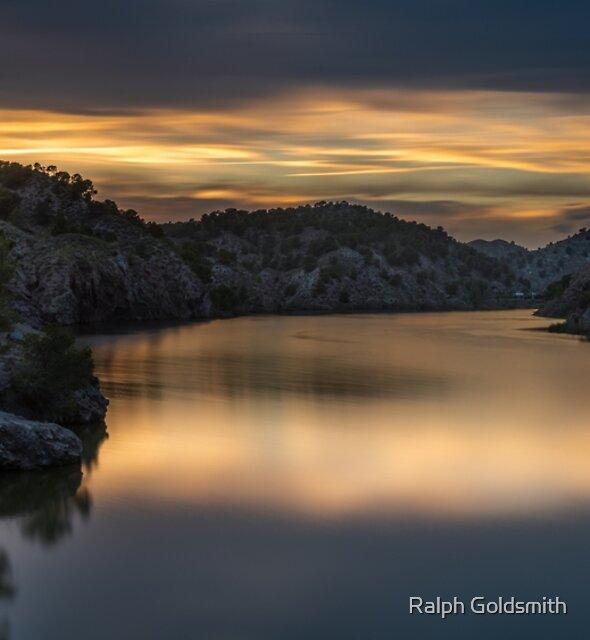 Post Sunset Gold at Tibi by Ralph Goldsmith