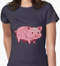 Pink Pig Women's Fitted T-Shirt