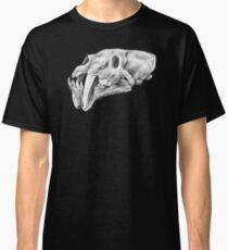 Barbourofelis sabertooth skull drawing   Graphite pencil art Classic T-Shirt