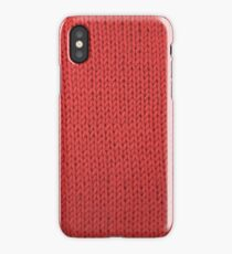 Red Knit iPhone Case