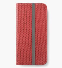 Red Knit iPhone Wallet/Case/Skin