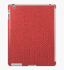 Red Knit iPad Case/Skin
