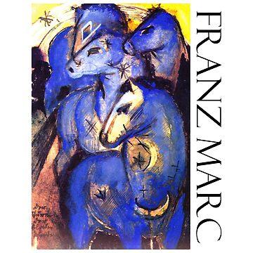 Franz Marc - Blue Horses by Chunga