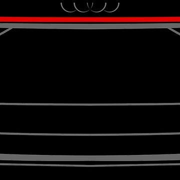 Audi A8 D5 2017 Back Black by Grafikus