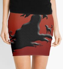 Witch's Silhouette - Prints and Cards Mini Skirt