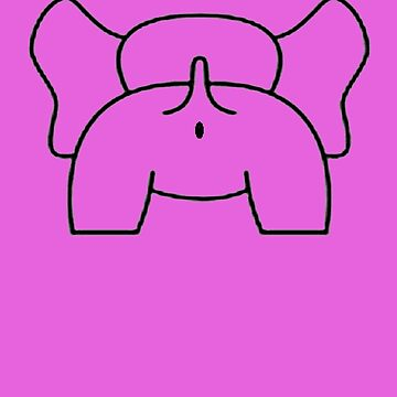 Cheeky Elephant Bottom Vector by taiche