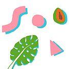 Leaf, Papaya, Shapes by fern roach