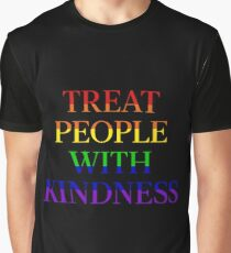 TREAT PEOPLE WITH KINDNESS - PRIDE BLACK Graphic T-Shirt