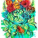 flowers in watercolor by ariadna de raadt