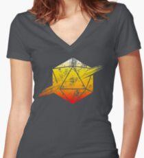 d20 Tequila Sunrise Women's Fitted V-Neck T-Shirt