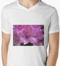 Pink Flower Close Up Men's V-Neck T-Shirt