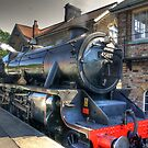 No.45407 'The Lancashire Fusilier' at Grosmont. by Trevor Kersley