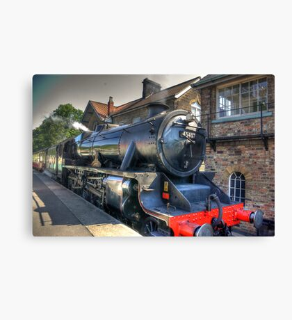 No.45407 'The Lancashire Fusilier' at Grosmont. Canvas Print