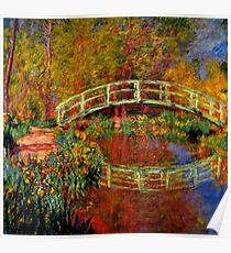 Monet - Die japanische Brücke Poster