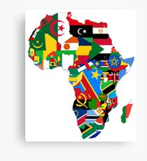 Flags of the African Continent Canvas Print