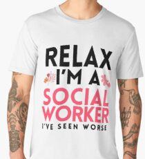 Social Worker Funny Gag Gift Masters Worker LCSW Gift Men's Premium T-Shirt