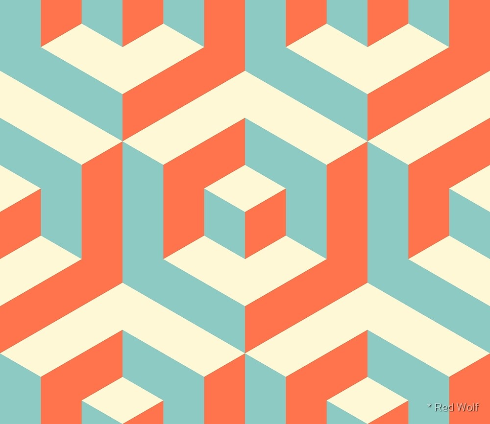 Geometric Pattern: Cube Inset: Strobe by * Red Wolf