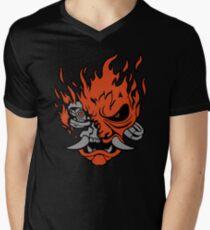Cyber-Samurai 2077 Men's V-Neck T-Shirt