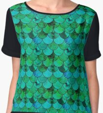 Green scales Chiffon Top