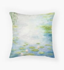 An Afternoon with Monsieur Monet Throw Pillow