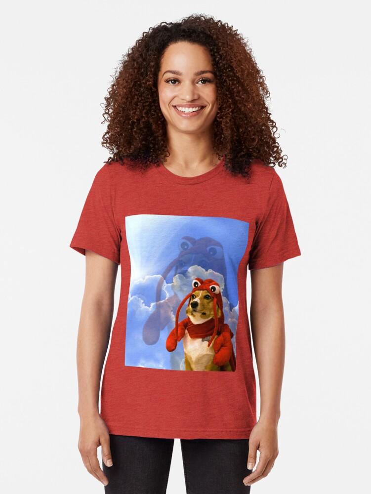 Alternate view of Lobster Corgi, Doggo #1 Tri-blend T-Shirt