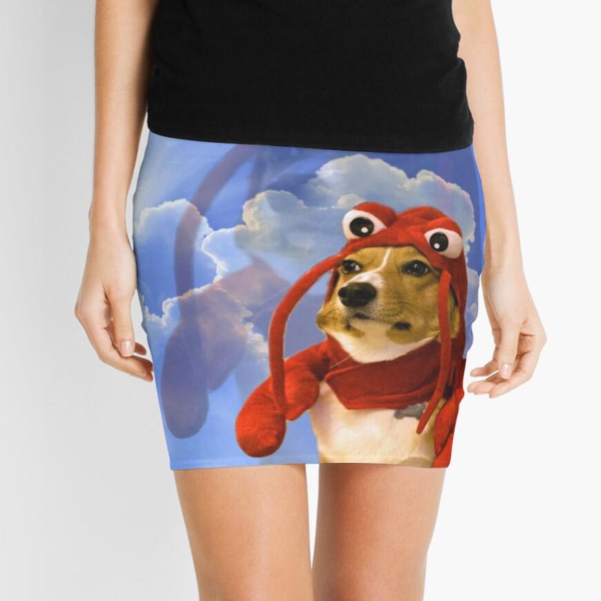 Lobster Corgi, Doggo #1 Mini Skirt