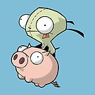 Gir and Piggy by stonestreet
