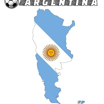 Argentina Soccer Shirt Football Team Jersey Fan Gift T-Shirt by SimiRaghavan