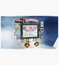 Welcome to Hill Valley - Sky Way Billboard Poster