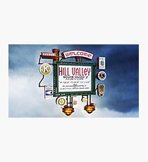 Welcome to Hill Valley - Sky Way Billboard Photographic Print
